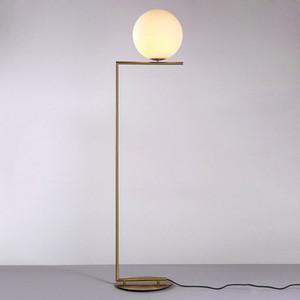 Modern vidro branco Egg Floor Lamp ouro abajur Art Home Living Sala de Estudo Decoração FA009