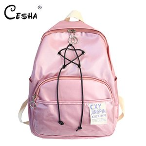 Fashion Pentagram Design Women Zaino Sacchetto di scuola di alta qualità in nylon leggero Satchel Book Bag Ragazze Lovely School zaino SAC Y190601