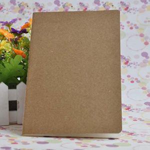 Kraft Notebook Unlined Blank Books Travel Journals for Students School Children Writing Books 8.8*15.5cm LX2324