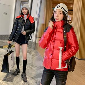 nouveau visage lumineux hiver Slim vers le bas de la veste de gros femmes courtes en coton