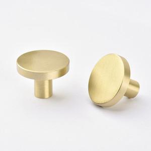 Altın Mutfak Dolabı Topuzlar Prinç ücretsiz gönderim Mobilya Çekmece Pulls Tek Delik Dresser Topuzlar Dolap Kapı Kolu Kolları