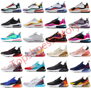 Designer shoes Hot Punch Photo Blue Mens Women Running Shoes Triple White University Red Olive Volt Habanero 27C Flair 270s Sneakers 36-45