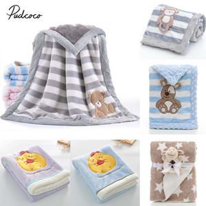 2019 Marca Blanket Cute Baby / Crib Quilt macio Minky Duplo pontilhada Backing Toalha Enrole Blanket 75 * 100 centímetros / 100 150 centímetros *