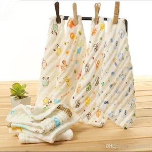 Gauze handkerchief high density double layer four layer gauze saliva towel baby feeding towel gauze square towel 20 25 30