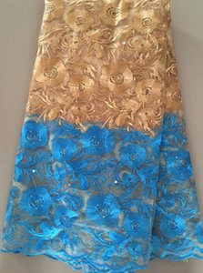 New Design French Net Lace Fabric 2018 Latest African Lace Fabric With Embroidery Mesh Tulle Lace Fabric High Quality Nigerian Ell3121