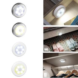 PIR détecteur de mouvement 6 Led Night Light sans fil détecteur de lumière mur Lampe automatique Marche / Arrêt Closet batterie d'alimentation