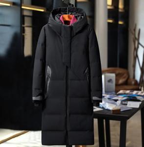 Duck homens inverno jaquetas Coats real de pele de coelho Homens Mulheres amantes da moda quente grossa Parka Classic Mens jaqueta masculina