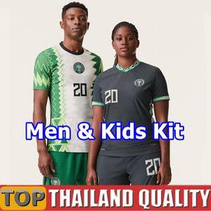 2020 Nigéria maillots de foot 20 21 Nigéria Okechukwu OKOCHA AHMED MUSA MIKEL IHEANACHO Maillot de foot Hommes kit enfant uniforme