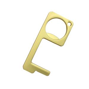 Metall Höhenverstelltaste Non-Contact-Werkzeug Türgriff Key Grip Press Hände Sicherheit zu halten Zubehör Schlüsselanhänger DHB98