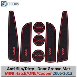Anti-Kirli Pad MİNİ R56 R57 Hatch BİR Cooper S 2006-2013 Kapı Groove Kapısı Slot Car İç Jel Tampon Kauçuk Mat