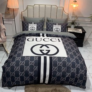 Modische Queen-Size-Bettwäsche-Set Black Stripe Luxus Doppelbettbezug-Set Modern, Dekoration, Bett-Set-Fall mit Pillowcase