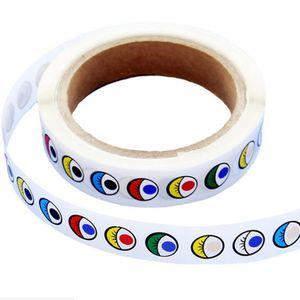 adhesive eye stickers childrens handmade diy black and white color eyeball stickers activity creative eye stickers baby play