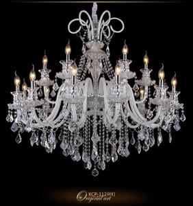 Crystal chandelier livingroom lamp duplex villa  dining room bedroom creative personality engineering