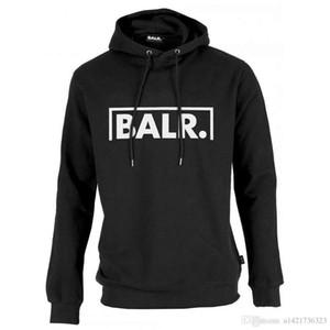 2020 Fleece BALR casuale unisex con cappuccio Felpa freddo di hip pop Pullover Menswomen Sportwear del cappotto Jogger Tuta Moda