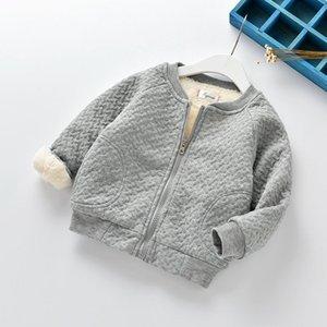Crianças meninos meninas jaqueta quente jaqueta de lazer além de veludo inverno primavera desgaste infantil camisa de algodão final de outono outwear