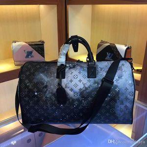 Высокое качество багажа размер сумки мужчины Tote бренд дорожная сумка мужская кожаная сумка большая сумка-мессенджер сумка 50 см 44164 s1