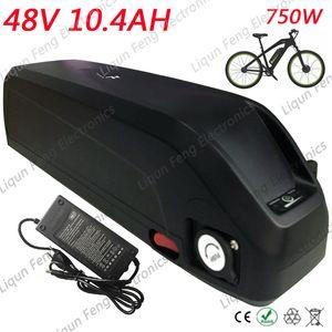 Hailong 48V 10AH Aşağı tüp E-Bike Battery Lityum Batarya 48V 750W USB Dahili BMS 54.6V 2A şarj cihazı ile Elektrikli Bisiklet Aküsü.