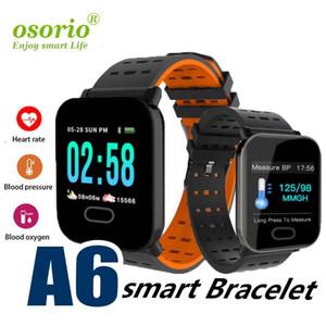 심장 박동 모니터 야외 스포츠 Smartwatches 실행 뉴 A6 팔찌 스마트 시계 터치 스크린 스마트 팔찌 전화