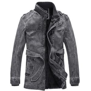 Vestes Hommes Mode Classique Retro pied de col veste en cuir PU moto plus de velours Ceinture de conception de grande taille M-4XL