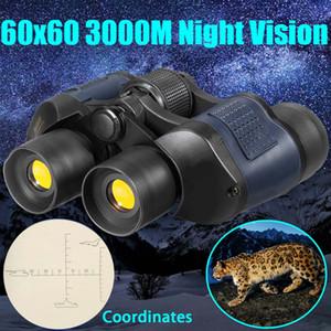 Vendita caldi 60X60 Zoom Day / Night Vision esterna HD Binocolo caccia telescopio con il caso