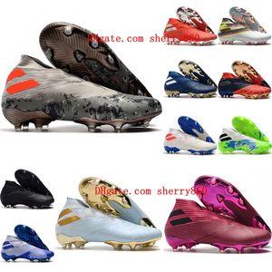 mens 2020 de calidad superior zapatos de fútbol zapatos de fútbol al aire libre Nemeziz 19 FG botas de fútbol Nemeziz tango Messi scarpe Calcio