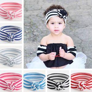 8 colori Cute Baby a righe Knot fascia ragazze headwraps Turbante fasce Infant Bandane Hairband Phtography puntelli del partito Favor50pcsT1I1994