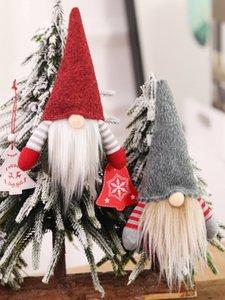 Handmade de Natal sueco Gnome escandinavo Tomte de Santa Nisse Nordic Plush Toy Elf Tabela Ornament Xmas Tree Detalhes no JK1910