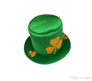 Día Irlanda hombres y mujeres sombreros de fiesta de Bachelorette de la Navidad del verde del trébol Sombrero St. Patrick Suministros Carnaval de Halloween 9 5HY A1