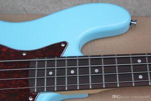 4 Cordas Azul Guitarra baixa Elétrica com Vermelho Concha De Tartaruga Battipenna, 20 Trastes, Tastiera in palissandro, oferecendo pers Serviços