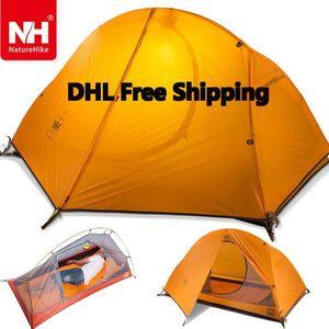 Wholesale- DHL freeshipping 1.5KG naturehike ultralight tent 1 person outdoor camping hiking waterproof tents Single carpas plegables tenda