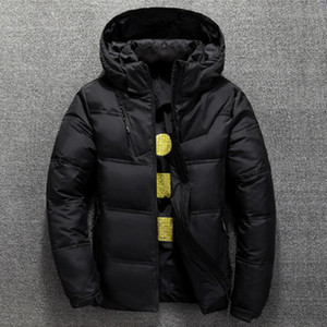 Outdoor Short Hooded Down Jacket Man Designer Solid Color Zipper Lapel Neck Coats Removable Hat Long Sleeved Outerwear Clothing
