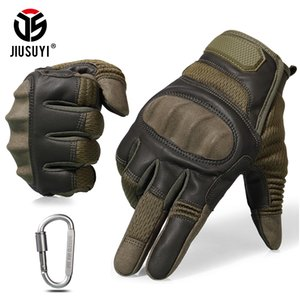 Tactical Military Full Finger Gloves Touch Screen Airsoft Combat Paintball Shooting Hard Knuckle Armor Bicycle Driving Glove Men SH190921