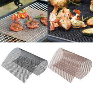 BBQ Grill Mat Non-stick Mesh BBQ Pad Barbecue Grilling Baking Mat Cooking Plate For Party Grill Mat Tools