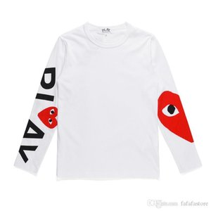 2019 Best Quality Com DES play GARCONS CDG HOLIDAY Heart Emoji Unisex PLAY long sleeve des garcons NEW White Long Sleeve T-Shirt