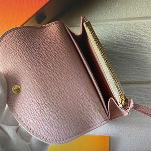 Flap-Knopf M62361 ROSALIE COIN PURSE Mini Pochette Short Wallets Frauen Compact Card Holder Exotische Leder Emilie Sarah Victorine Wallet