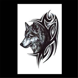 팔 문신 할로윈 크리스마스 방수 스티커 늑대 머리 두개골 머리의 불꽃 게이샤 크로스 꽃 문신 스티커 SZ447