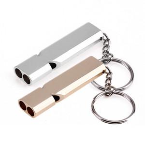 Мини Портативный 150db двухтрубной High Decibel Открытый Отдых Туризм выживания Whistle Multi-Tools Emergency Whistle Keychain