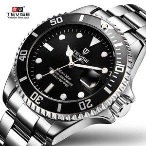 2019 Drop Shipping Tevise Top Brand Men Reloj mecánico Automático Moda Lujo Acero inoxidable Reloj masculino Relogio Masculino C19041101