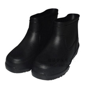 Wear-resisting short canister rain shoe water shoe water boot all white gao ban food boots EVA rubber shoe short canister portable bubble sh