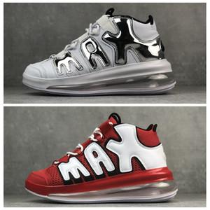 Air more Uptempo 720 QS University Red Metallic Silver Silver Uptempos Zapatillas de baloncesto para hombre 3M Scottie Pippen Sports Designer Sneakers Trainers