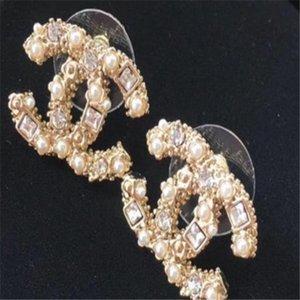 2020 G Luxus-Designer-Schmuck Frauen Ohrringe Perlen Strass Entwerferschmucksachen für Abend prom zeigen Ohrringe hohe Qualität A323