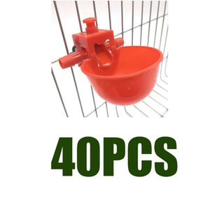 40Pcs Bird Cage Chick Coop Feed Quail Drinking Cups Chicken Water Bowl
