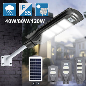 120W LED Luzes Solar Luz Rua Infravermelho Body Human Body Indução Lâmpada de Parede Solar Segurança À Prova D 'Água Jardim Lâmpadas de Jardim