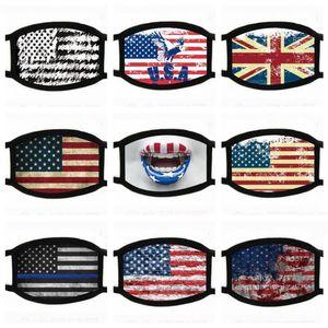 многоразовые маски для лица Trump American Избирательные Поставки пылезащитные маски печати Универсальный для мужчин и женщин американский флаг маска EEA1563