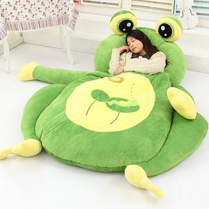 High quality 5 style Cartoon Animal frog Beanbag Soft Plush Huge Bed Sofa Mattress Carpet Tatami 2 Sizes Tatami