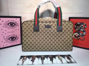 Дизайн Дорожные сумки Марка вещевой мешок HOT Известный высокого качества путешествий Сумки ИЗВЕСТНЫЙ покупок Кожа путешествия багаж размер мешка 42-26-23cm