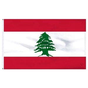 Libano Bandiera 3x5FT 150x90cm stampa del poliestere coperta appeso all'aperto di vendita caldo di bandiera nazionale con ottone Occhiello Shippin