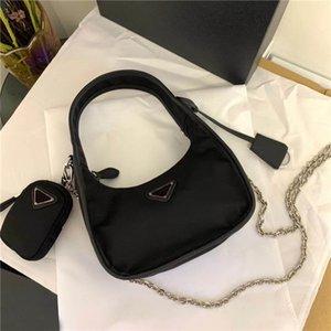 Libero universalmente trasporto classico del lusso della moda doppio coperchio borsa di tela borsa a tracolla migliore metallo di qualità catena tote bag dimensioni 19 centimetri 12 centimetri 6 centimetri