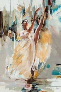vA. Qualidade pintado à mão HD impressão impressionista Retrato alta Art Pintura a óleo da bailarina Mulher sexy dançando sobre p73 Canvas Home Office Deco