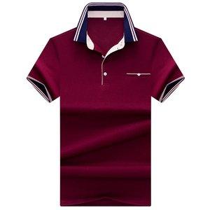 Taglia L-3XL New Brand s Mens Solid Camicie in cotone manica corta Camisas Casual Stand colletto Camicia maschile Regali rossi
